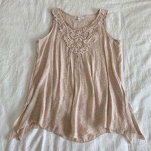 Cream Sleeveless Top